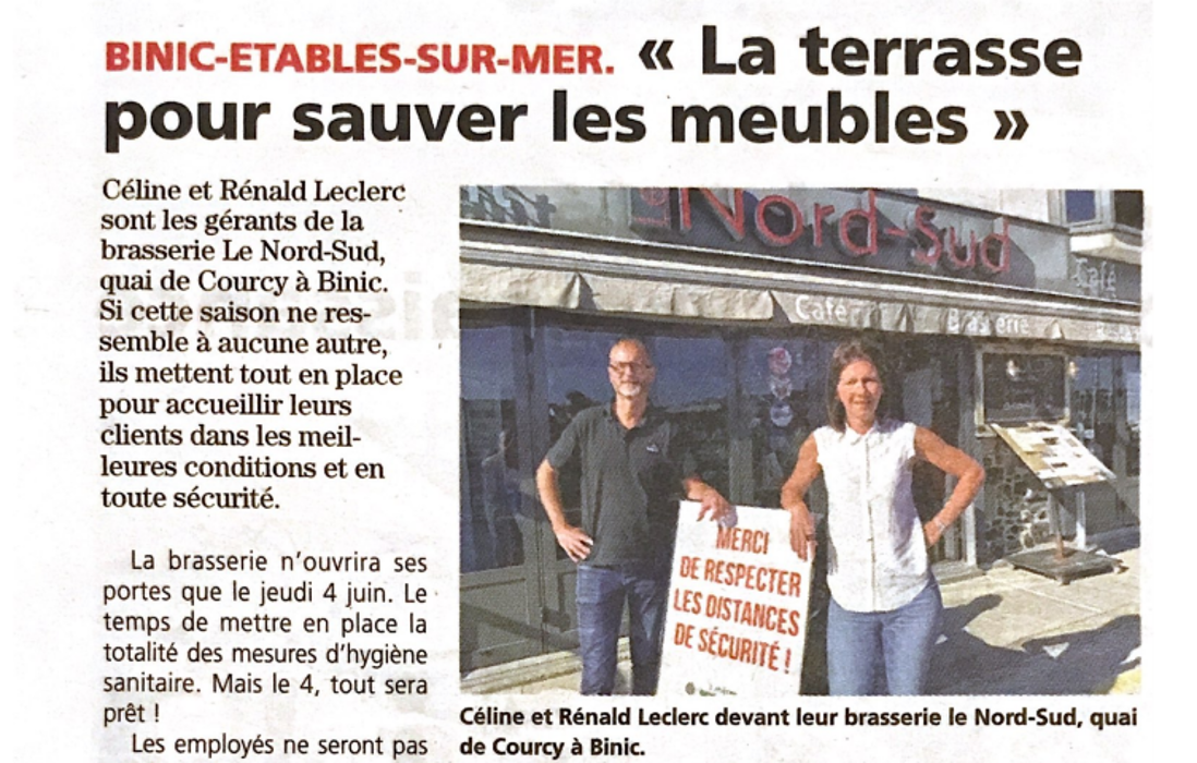 La Brasserie Nord Sud accueille ses clients dés le 4 Juin 0
